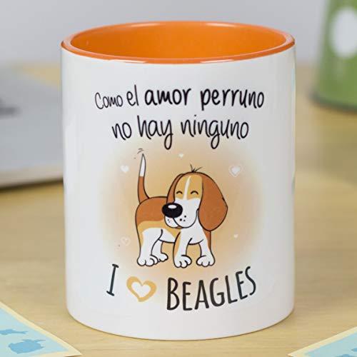 La mente es Maravillosa - Taza con Frase y Dibujo Divertido sobre Perro - Regalo Original de Mascota (Taza Beagle)
