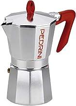 بيدريني - ماكينة تحضير القهوة 6 أكواب - أحمر ورمادي