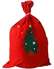 BESTOMZ Saco de Navidad Bolso cordón 50x70cm (Patrón Aleatorio)