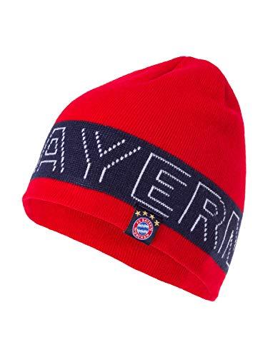 FC Bayern München Beanie, Mütze in rot mit FCB Schriftzug und Logo