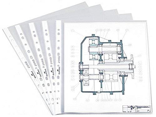Durable 266019 - Funda de plástico (A4, 100 unidades), transparente