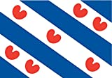 magFlags Flagge: Large Friese vlag provincie Friesland | Frisian | Friese vlag | Fryske | Querformat Fahne | 1.35m² | 90x150cm » Fahne 100% Made in Germany