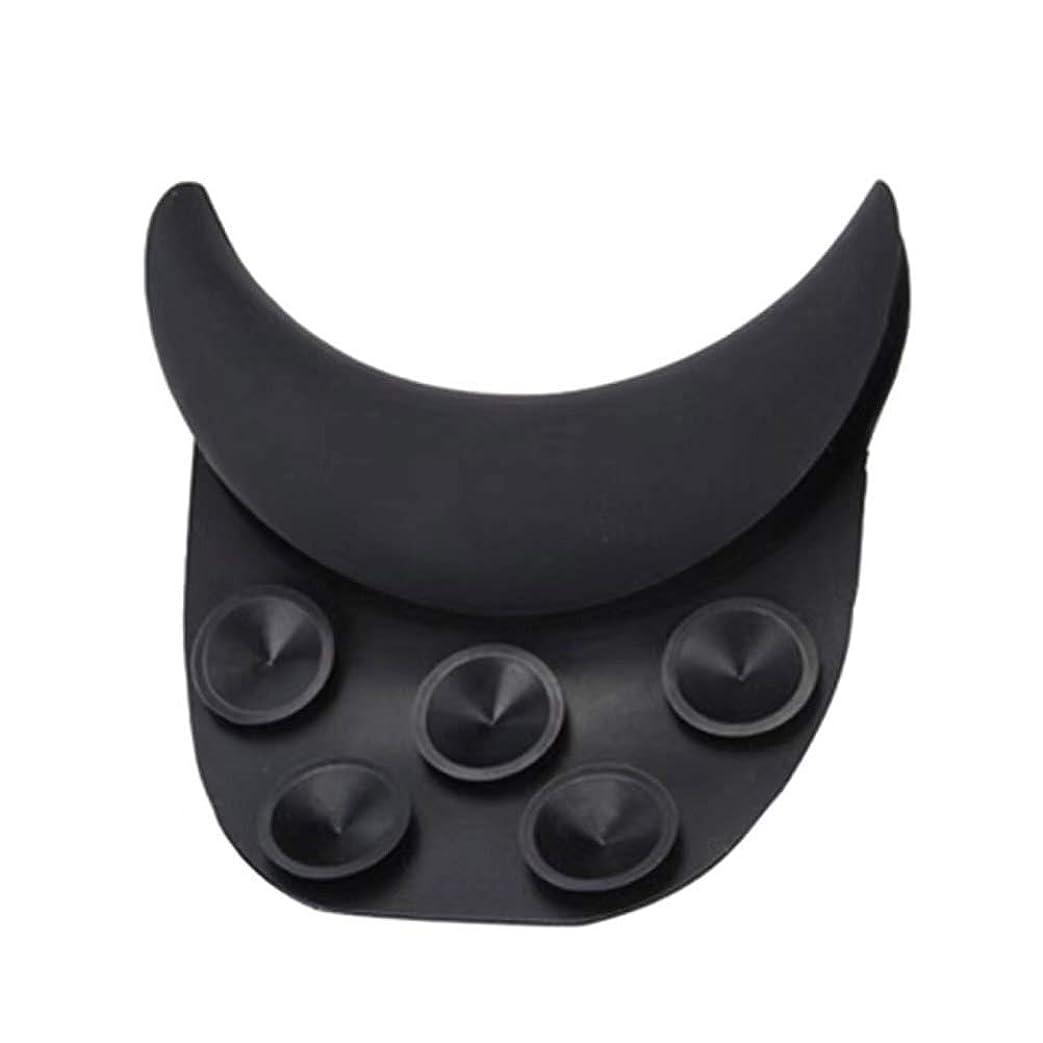 ケント盲信オンHealifty 理髪用枕シリコーンサロンクッション(ブラック)