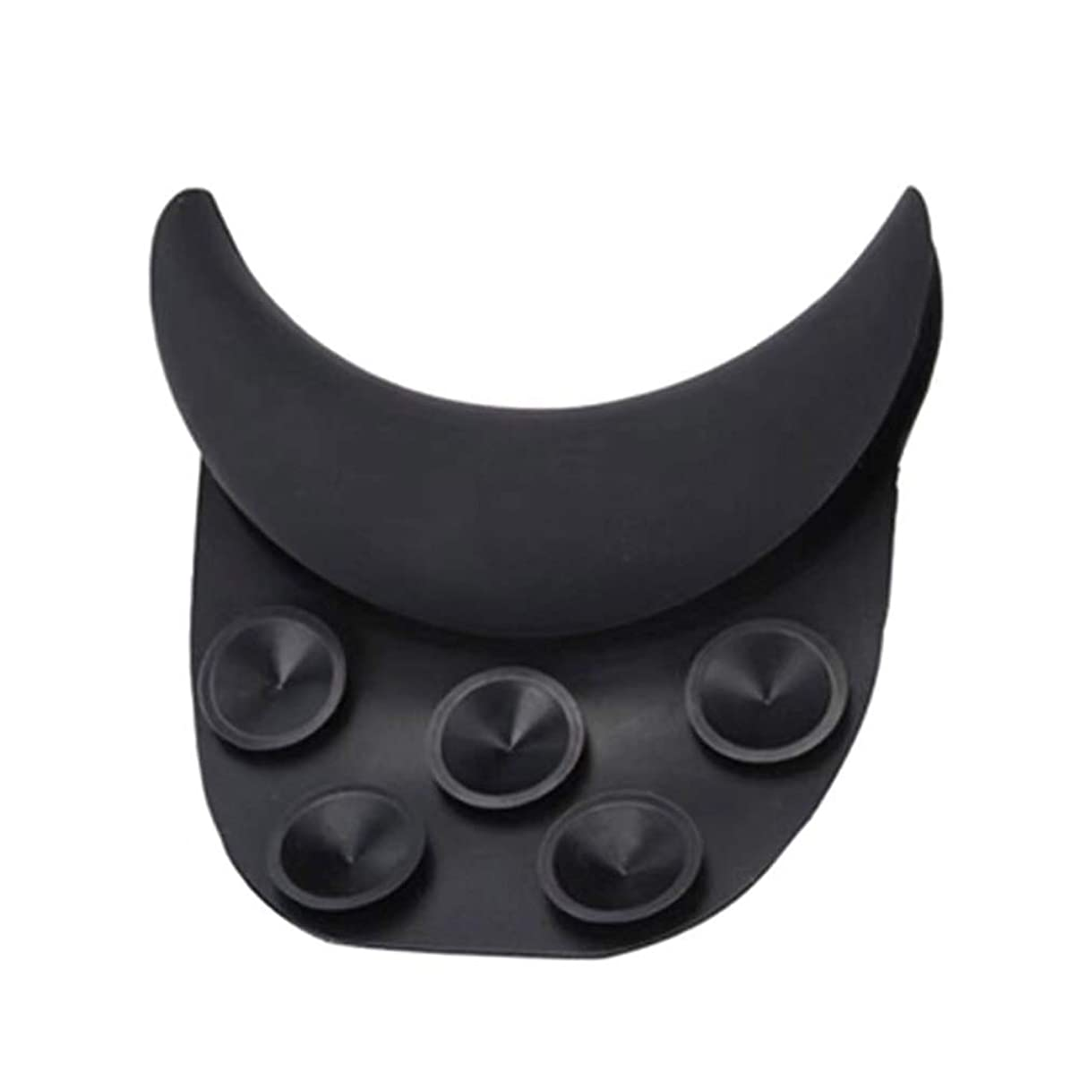 とても多くの関係発生Healifty 美容サクションカップ枕シリコンネックレストサロンクッション美容整髪用(黒)