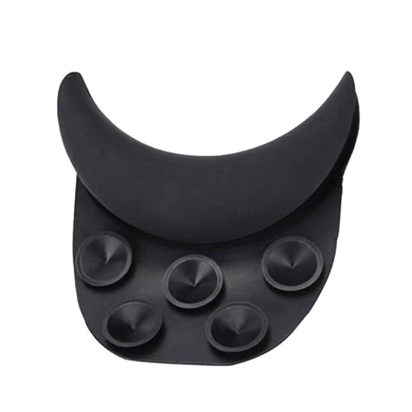 分パターンラオス人Healiftyヘアウォーキングネックピローヘアシンクネックサポートシリコンネックレストクッション付きサロンスパ(黒)