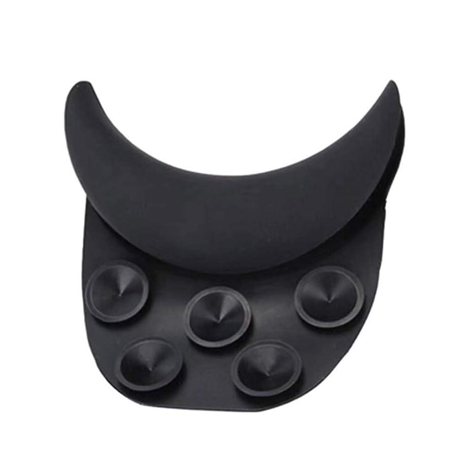 頭痛反対スポーツをするHealifty 美容サクションカップ枕シリコンネックレストサロンクッション美容整髪用(黒)