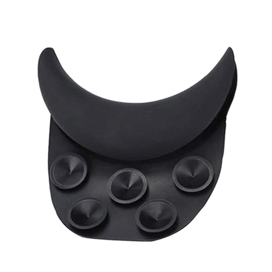強制苦いクラスHealiftyヘアウォーキングネックピローヘアシンクネックサポートシリコンネックレストクッション付きサロンスパ(黒)