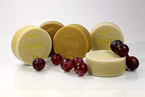 11,68 EUR/100 g - Traubenkernöl-Seife BODY mit Parfumöl von SEIFEN-EHLERT - 1 Stück: 95 g - Vegane Seife, Naturseife, Duschseife, Handseife, Körperseife mit Bio-Ölen
