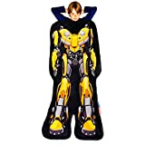 Blankie Tails | Transformers Blanket - Double Sided Super Soft and Cozy Minky Fleece Blanket, Machine Washable Fun No Zipper Transformer Wearable Blanket for Kids (Bumblebee)