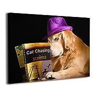 Skydoor J パネル ポスターフレーム 犬 レトリーバー 本 帽子 インテリア アートフレーム 額 モダン 壁掛けポスタ アート 壁アート 壁掛け絵画 装飾画 かべ飾り 30×40