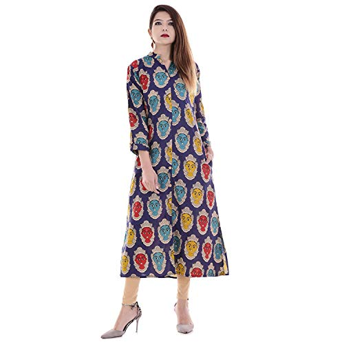 Indian Women's Printed Cotton Kurti…