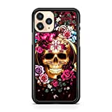 Compatible avec Majestic Skull Pretty Flowers Roses Floral Colorful Phone Case Cover (Phone Model :...