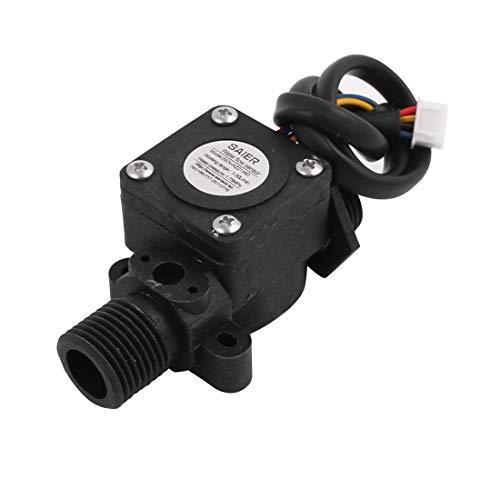 Aexit SEN-HW21WD G1 / 2 Sensor de flujo y temperatura de agua de pasillo plástico de 1-30L / min 80 mm (9ac8f19ef8b477daccd732103f0ad9b9)