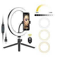 Neewer 10 '' USB LEDのリングライト26cm写真照明調光可能なSelfieランプMakeup YouTube Tiktok電話カメラのための三脚