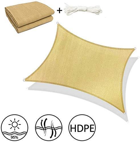 Sombra Net, Shade Sails rectángulo 5% de protección Ultravioleta Toldo Toldo for Patio al Aire Libre Jardín, x4 Viene con Cuerda de 1,5 m (Tamaño: 13 pies x 20 pies (4m x 6m)) li