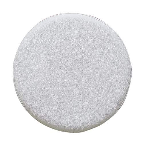 Tianmen Stuhlbezug, Stretch, elastisch, für Esszimmerstuhl, wasserdicht, mit elastischer Hülle, Stuhlbezug, Barhocker-Abdeckung, rund, Leder + Schwamm + Silikagel., weiß, 35 cm