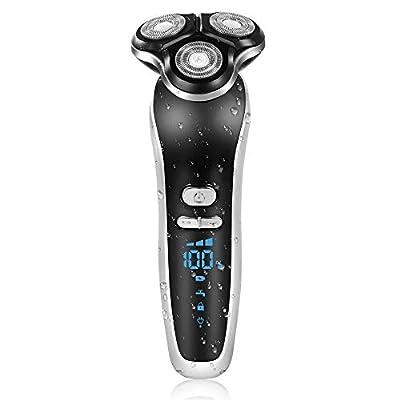 EKUPUZ 4 in 1 Electric Shaver Men Rechargeable Waterproof Digital Display Multi-Function Razor,for Nose Hair Trimmer Hair Clipper Facial Cleansing from EKUPUZ