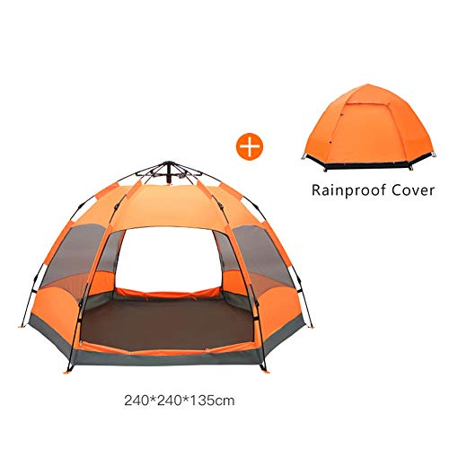 Automatic Pop-Up Tents Shading Awning beach family 5-8person/ 6-9person Waterproof Hydraulic Portable Double Skin Camping Tent Dome Coastline Instant Automatic Popup Tent with Rainproof Cover