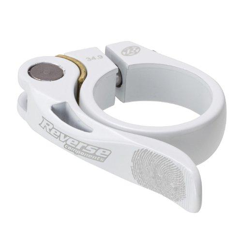 Reverse Long Life Sattelklemme mit Schnellspanner 34.9mm weiß