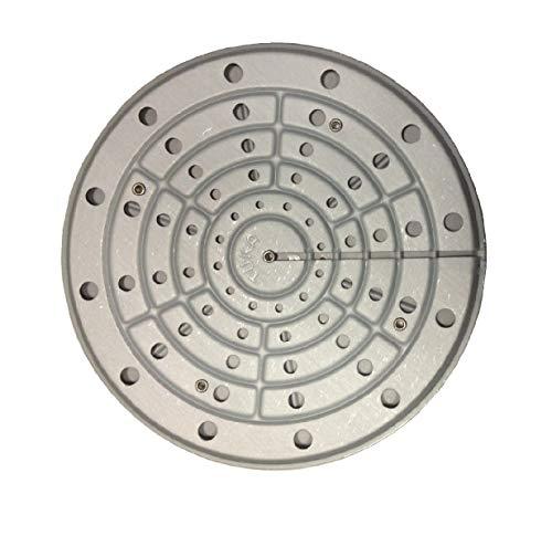 Kanguru Piastra Termica con Diametro 20 cm diffusore e accumulatore di Calore per fornelli a Gas, garantisce Risparmio e miglior Cottura, Acciaio, Grey