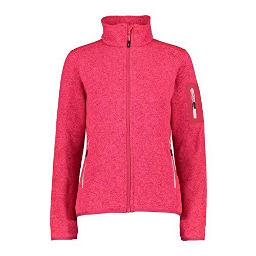 CMP Damen Knit Tech Fleece Jacket, Gloss-strawberry, 42 EU