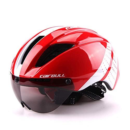 Casco de Bicicleta, Casco de protección de Seguridad con Visera de fácil fijación, Casco de montaña de Ciclismo Ligero y cómodo, B