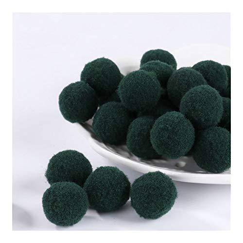 JIAHUI Pompones suaves de mezcla de pompones de felpa esponjosa para manualidades con pompones y bolas para decoración del hogar (color: 23, tamaño: 15 mm60 unidades)