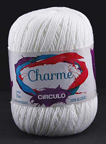 Charme 100% Cotton Threads in 10 Choices of Colors. Suitable for 2.5mm to 3mm Needle and 3mm to 4mm Crochet Hook. Great use for Sewing and Arts and Crafts Projects (White)