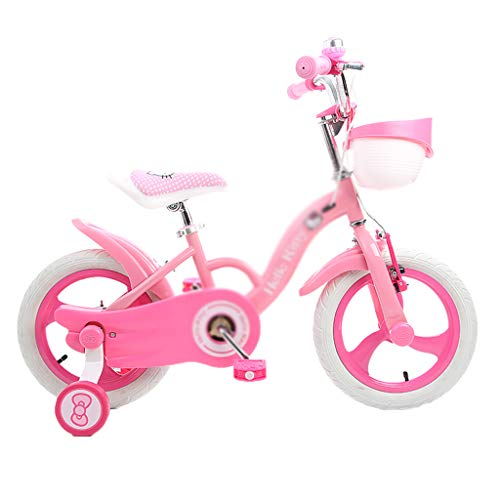 Bicicletas Infantiles Kids Bike Student Racing Youth Mountain Bike Bicycle Girl Cartoon Cute 12/14/16 Inch Best Gift (Color : Pink-C, Size : 14inch(100cm35cm60cm))