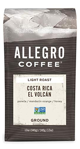 Allegro Coffee, Coffee Costa Rica El Volcan Ground, 12 Ounce