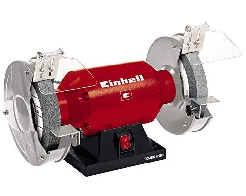 Einhell Amoladora doble TC-BG 200 (400 W, velocidad 2950 min-1, 230 V/50 Hz, incl. muela gruesa y fina de 200 mm de diámetro)