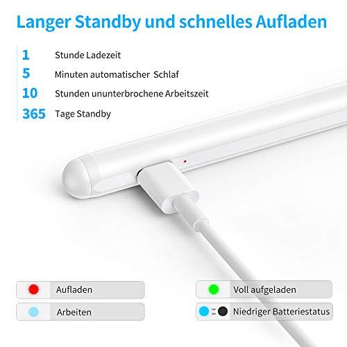 Kingone Stylus Pen für iPad 2018-2020 iPad Stift Magnetaufsatz iPad Pen Palm Rejection Pencil Kompatibel mit iPad Pro 11, iPad Pro 12.9, iPad 10.2, iPad Air 3, iPad Air 4, iPad Mini 5, iPad 6/7/8