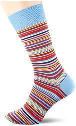 FALKE Herren Socken Microblock, Baumwolle, 1 Paar, Blau (Sky Blue 6534), 39-40 (UK 5.5-6.5 Ι US 6.5-7.5)