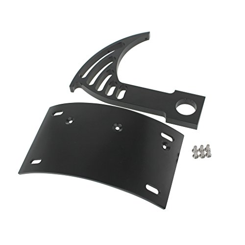 Motorcycle Curved Vertical Side Mount License Plate Tag Holder Bracket Fits All Sport Bikes and Cruisers Harley Kawasaki Yamaha Suzuki