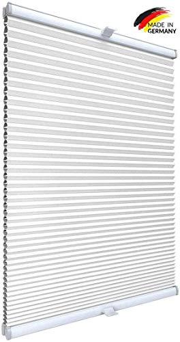 Gardinen21 Thermo Klemmfix Wabenplissee ohne Bohren | Waben Plissee im Wunschmaß | Maßgefertigt für Türen & Fenster | Sonnenschutz, Sichtschutz, Schallschutz, 100% Verdunkelung