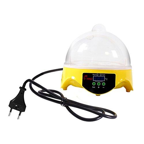 Gazechimp 7/32 Huevos Automático Digital Torneado Incubadora Pollo Enchufe EU - 7 Huevos
