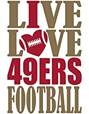 Live Love 49ers Football Journal: A lined notebook for the San Francisco 49ers fan, 6x9 inches, 200 pages. Live Love Football in gold and I Heart 49ers in red. (Sports Fan Journals) [Idioma Inglés]