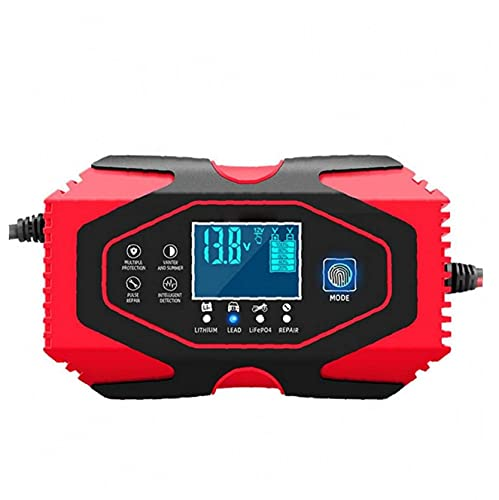 Car Battery Charger Maintainer 12V 24V Automatic Maintain and Repair with LCD Screen More Types Vehicle