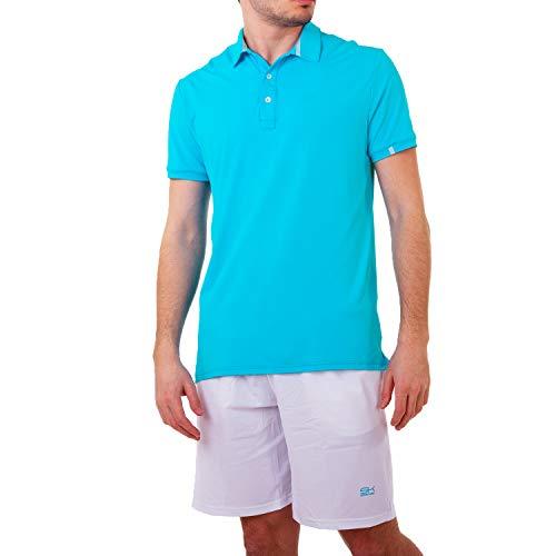 Sportkind Jungen & Herren Tennis, Golf, Segeln, Funktions Poloshirt Kurzarm, UV-Schutz, atmungsaktiv, türkis, Gr. XXL