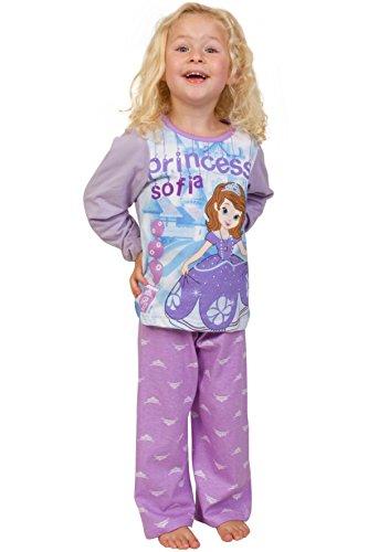 Kostüm Feuerwehrmann Disney Mädchen Pyjama Prinzessin Sofia 3bis 6Jahre Gr. 4-5 Jahre, Rose