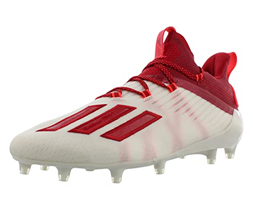 adidas Adizero Cleat - Men's Football White/Team Power Red/Solar Red