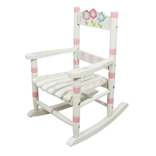 Fantasy Fields - Bouquet Thematic Child Wooden Small Rocking Chair | Imagination Inspiring Hand Crafted & Hand Painted Details Non-Toxic, Lead Free Water-based Paint
