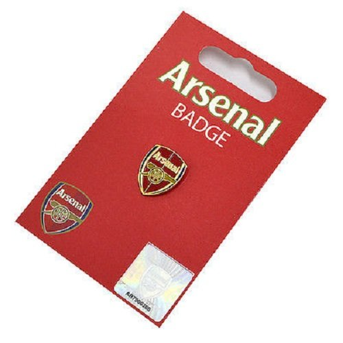 Arsenal FC Official Product Enamel Badge CLUB CREST Design Carded Stud by Arsenal F.C.