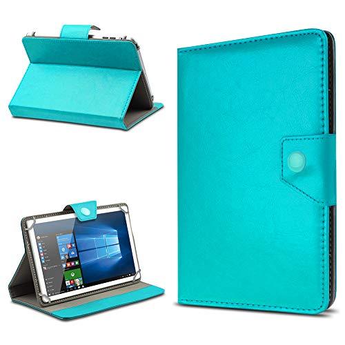 UC-Express Tablet Hülle für 10 Zoll Universal Hülle Cover Schutzhülle Kunstleder Tasche Etui, Farben:Türkis, Tablet Modell für:Odys Visio