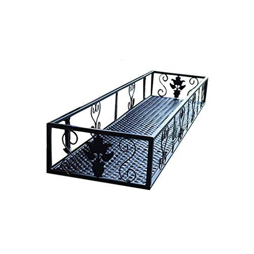 CXVBVNGHDF Supporto per Piante Espositore per Fiori in Ferro Supporto per vasi da Fiori Guardrail Balcone Piante grasse Geranio