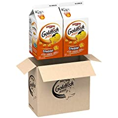 Box of 2, 30 ounce cartons, perfect for stocking your pantry Playful crackers baked with a smile Cheddar flavor, baked with real cheese, and no artificial flavors or preservatives About 28 servings per 30 ounce carton, about 56 servings per 2 count b...