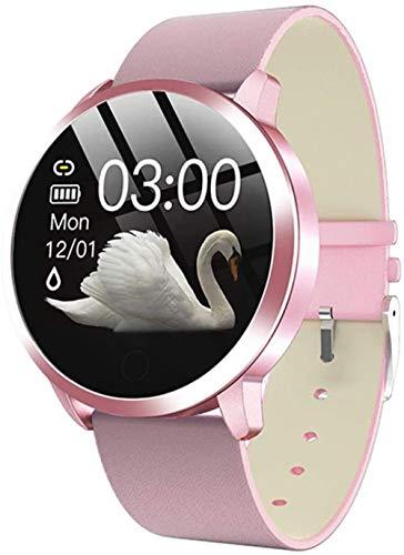 2021 moda mujeres reloj inteligente impermeable ritmo cardíaco monitor de presión arterial reloj inteligente regalo para mujeres reloj pulsera F