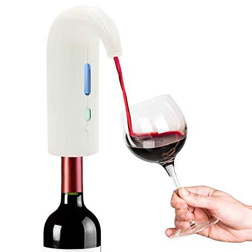 LYMHGHJ Decanter aeratore Vino Bianco per Cena Romantica, distributore Automatico di Vino, beccuccio versatore aeratore Vino Ricaricabile USB, Regali di Vino per Gli Amanti del Vino