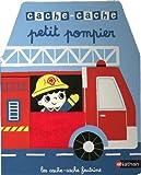 Cache-cache petit pompier - Livre matière - éveil Dès 6 mois