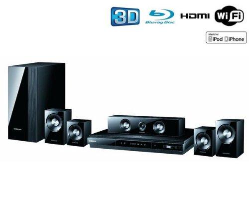 Samsung HT-D5100 5.1canales 1000W 3D Negro Sistema de Cine en casa - Equipo de Home Cinema (Reproductor de BLU-Ray, CD,CD-R,CD-RW,DVD+R,DVD+RW,DVD-R,DVD-RW, Bandeja, DVD-Video, 1 Discos, 1 GB): Amazon.es: Electrónica